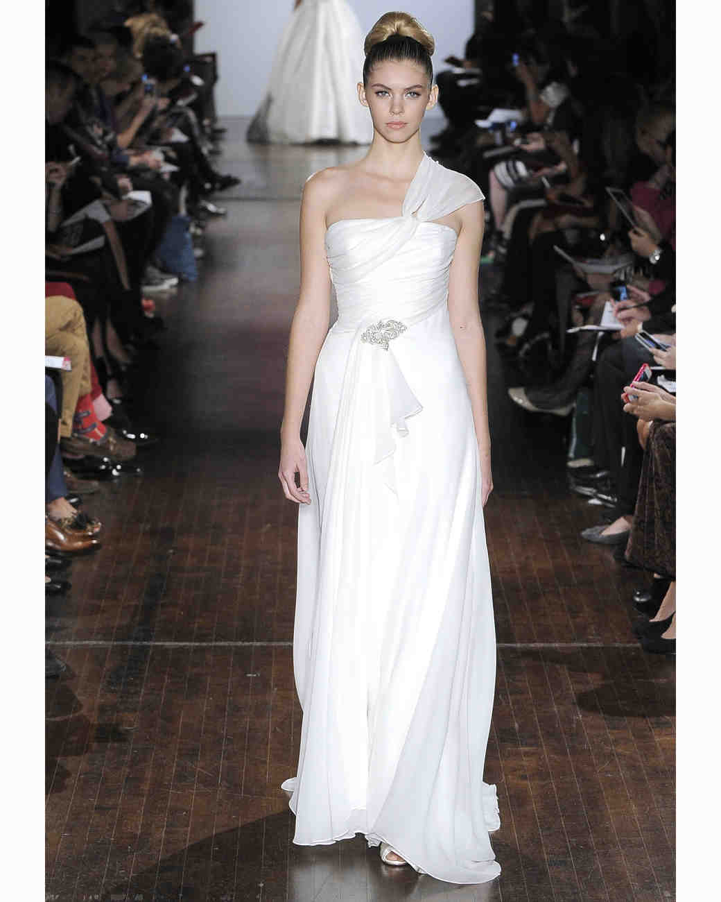 One-Shoulder Wedding Dresses, Fall 2013 | Martha Stewart Weddings