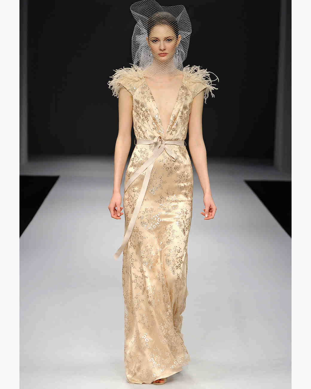 Gold Wedding Dresses, Fall 2012 Bridal Fashion Week | Martha Stewart ...