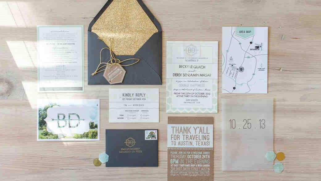 wedding invitations, cards & stationery | martha stewart weddings, Wedding invitations