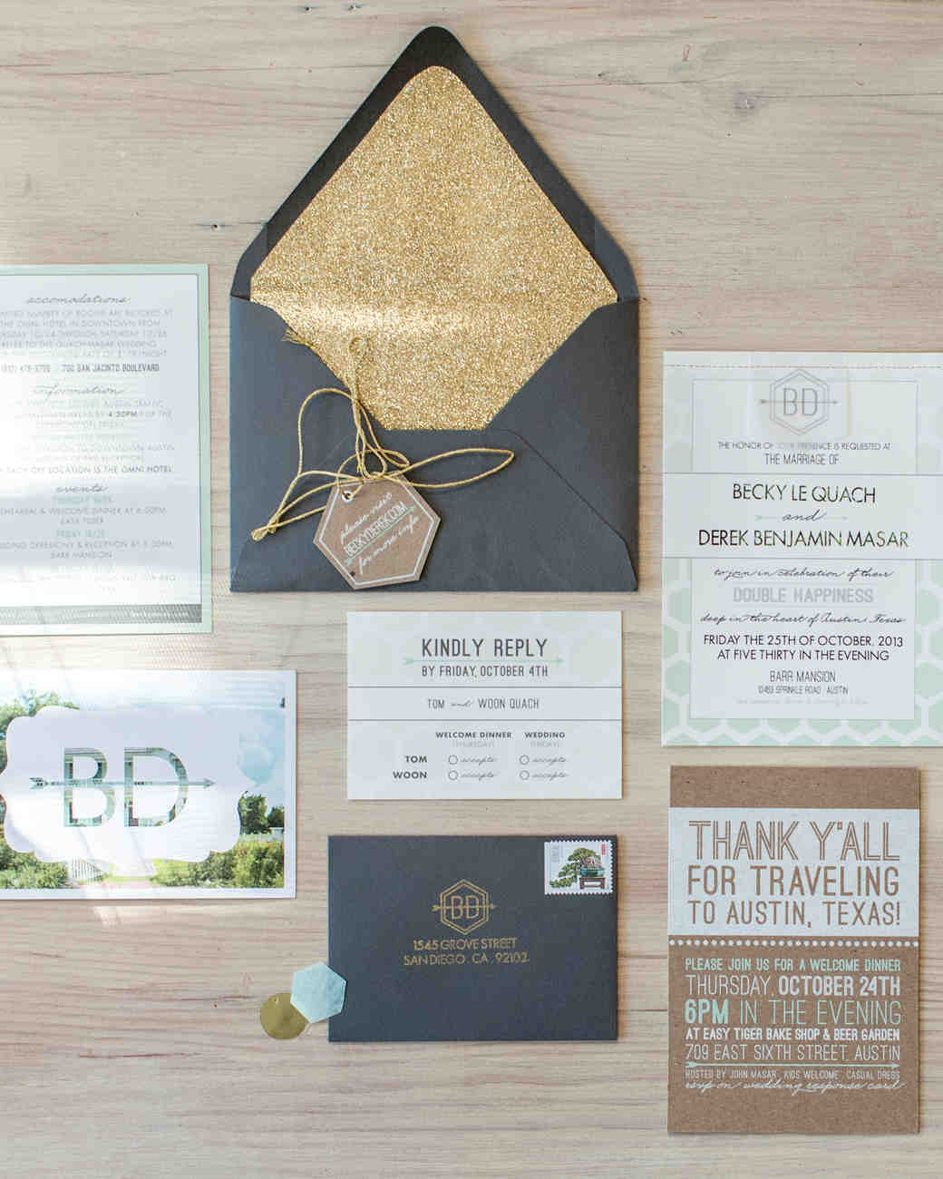 4 Steps For Creating Your Wedding Invitation Stationery Suite | Martha  Stewart Weddings