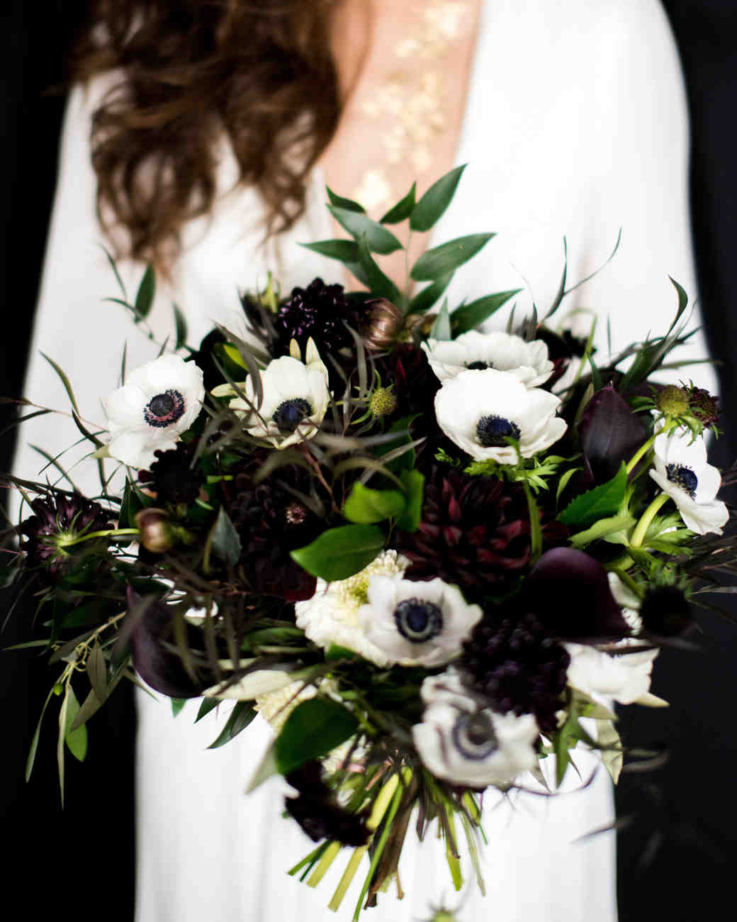 black white wedding bouquet