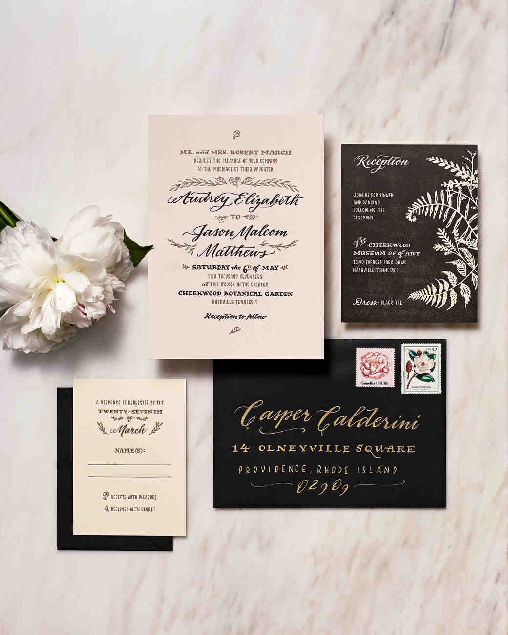 Superb Botanical Inspired Stationery
