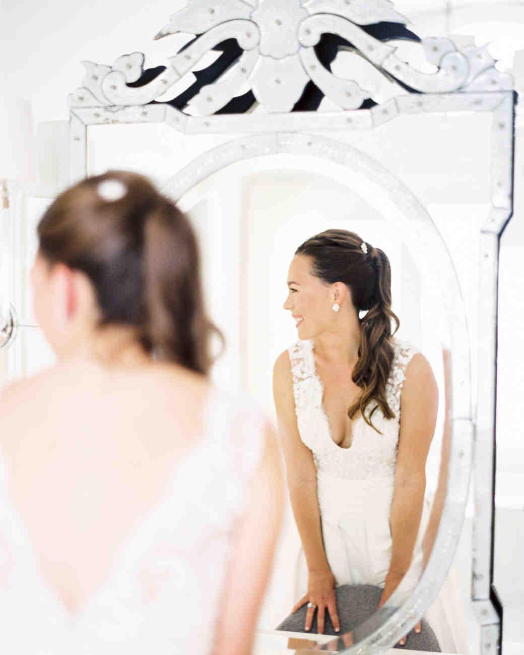12 Brides Who Wore Wedding-Worthy Ponytails | Martha Stewart Weddings