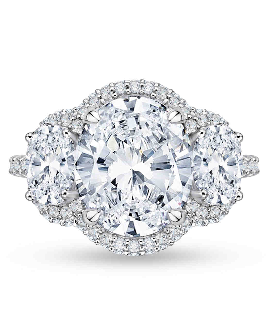 Carizza Oval Engagement Ring