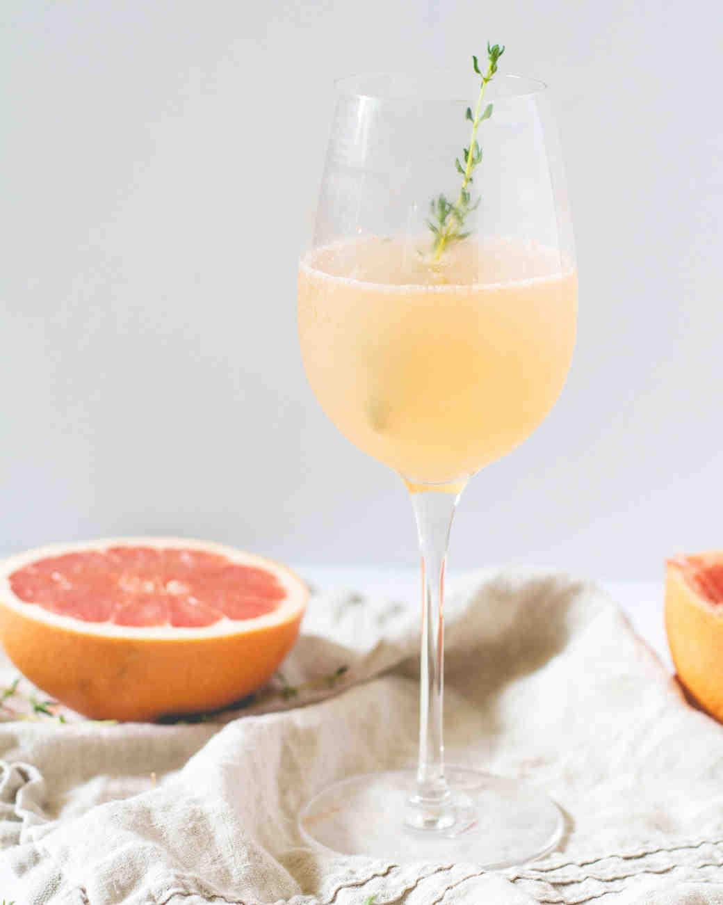 citrus champagne cocktail
