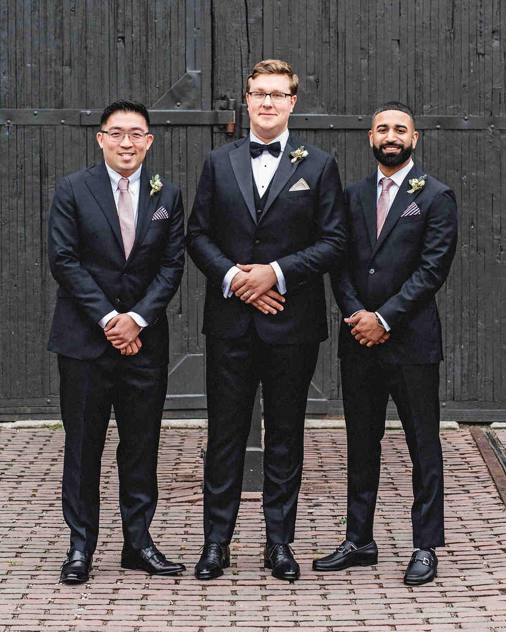 daniela andrei wedding groomsmen