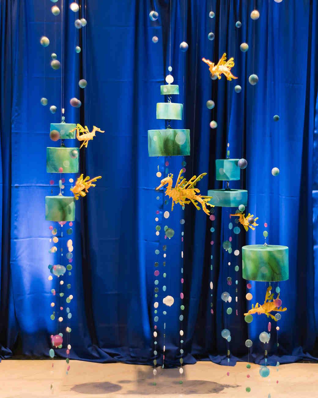 duff goldman ocean wedding cake installation