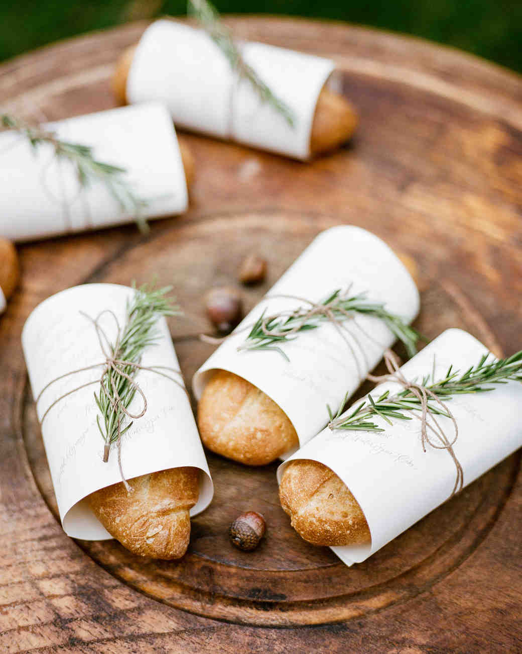baguette wedding favors