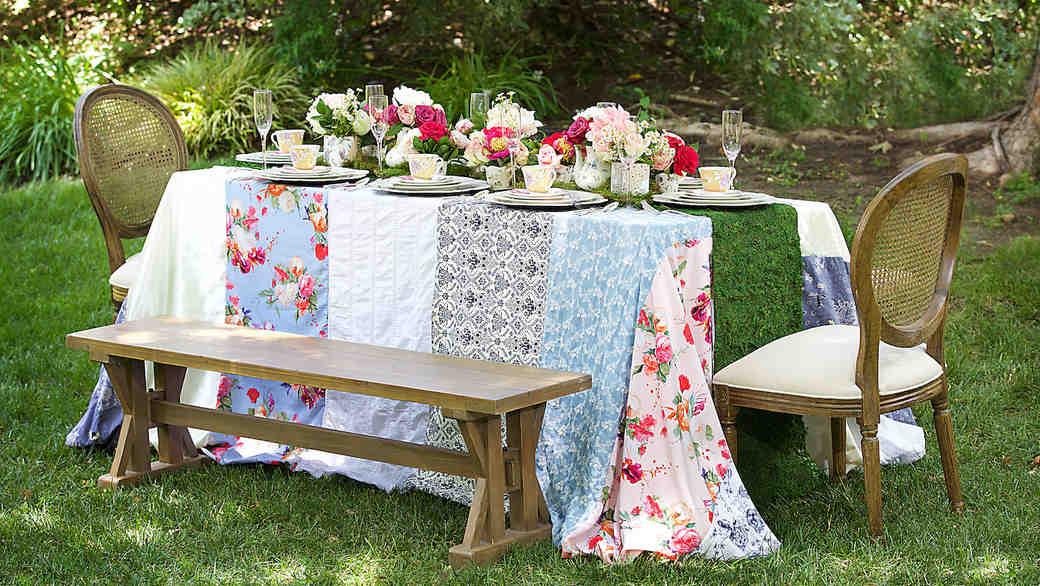 English garden tea party table