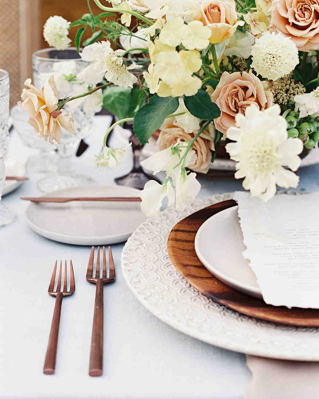 eyelet lace inspired place setting