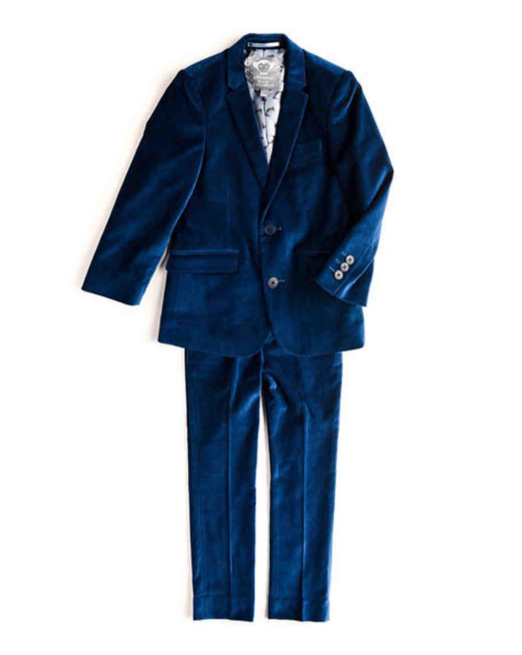blue ring bearer suit