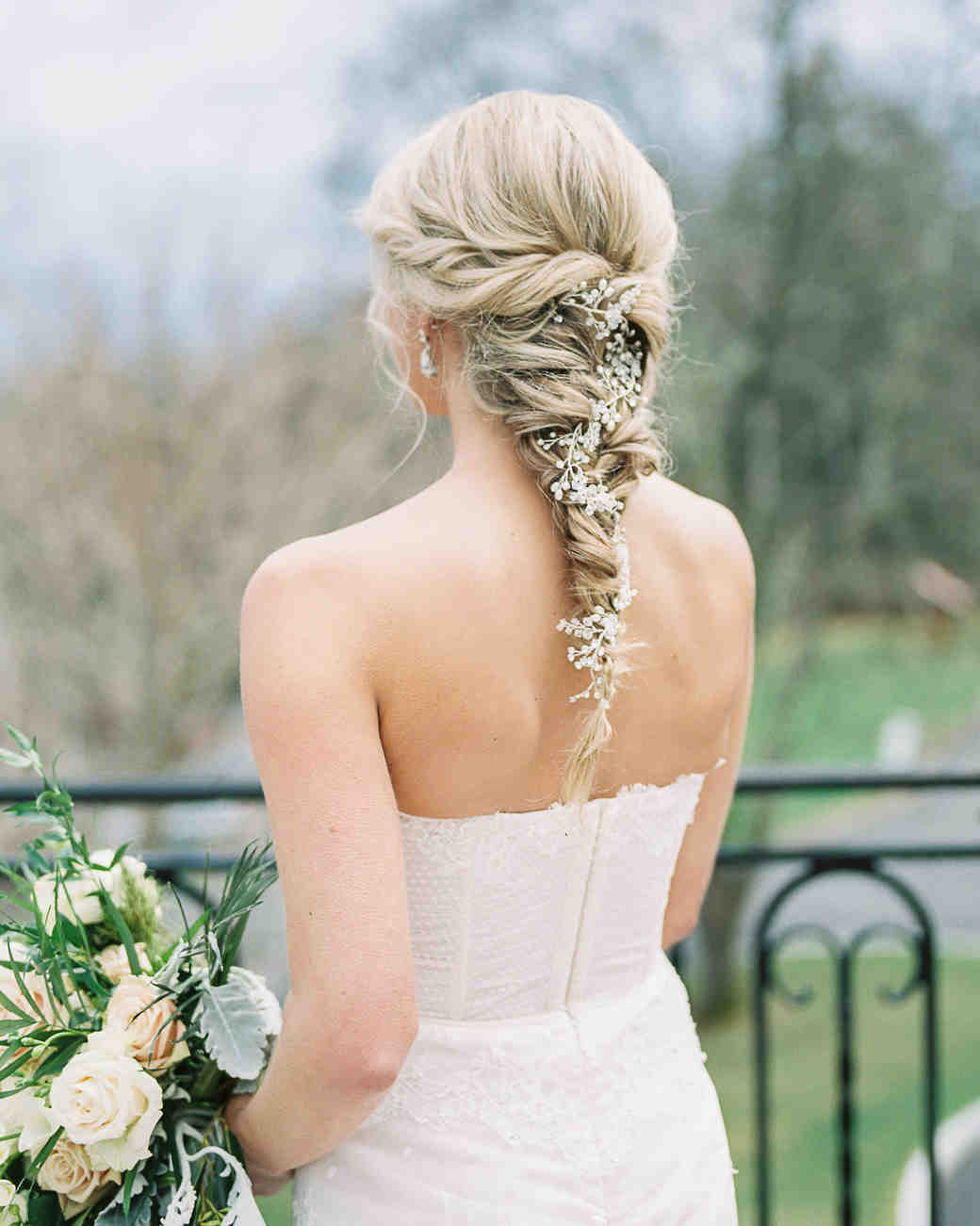 20 Wedding Hairstyles With Flowers Martha Stewart Weddings