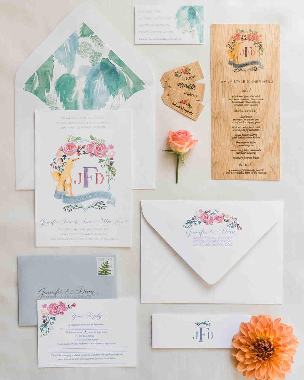f45b22f47fd8 The Loveliest Watercolor Wedding Invitations