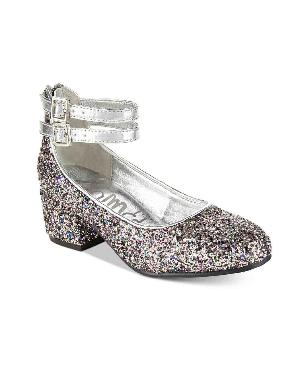 flower girl shoes glitter