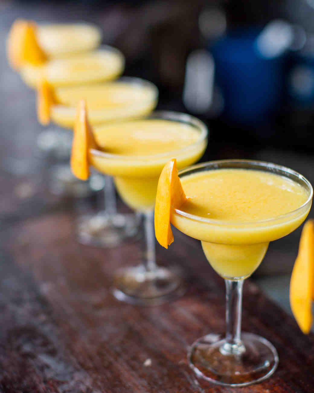 yellow frozen drinks