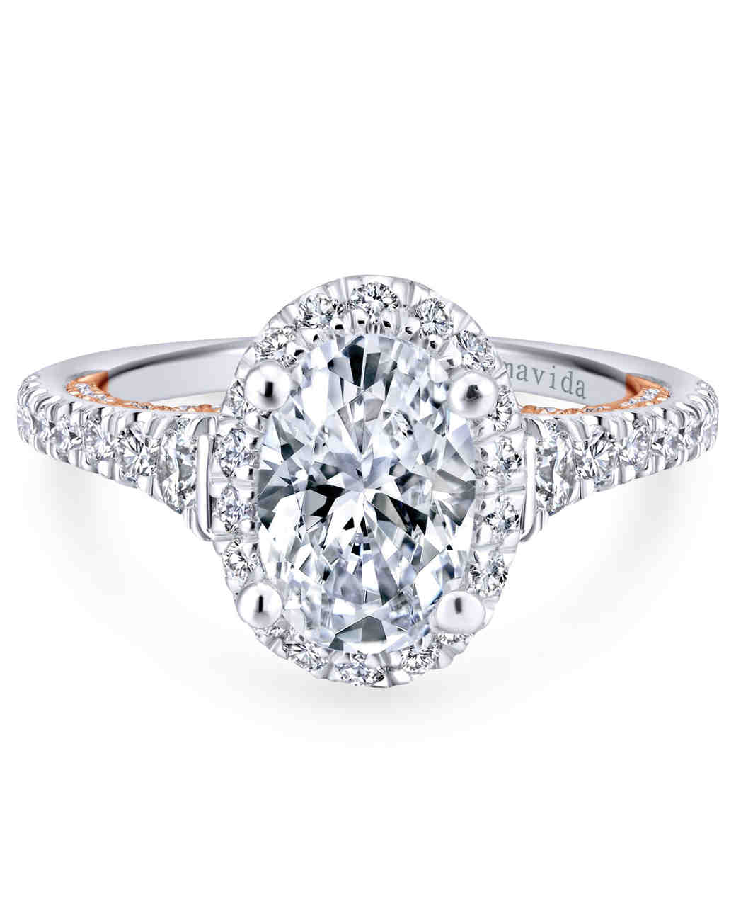Gabriel & Co. Oval Engagement Ring