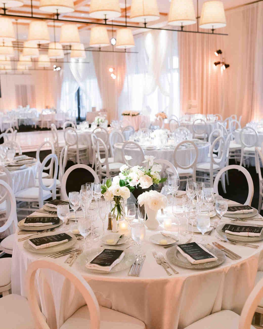 henery michael wedding reception tables