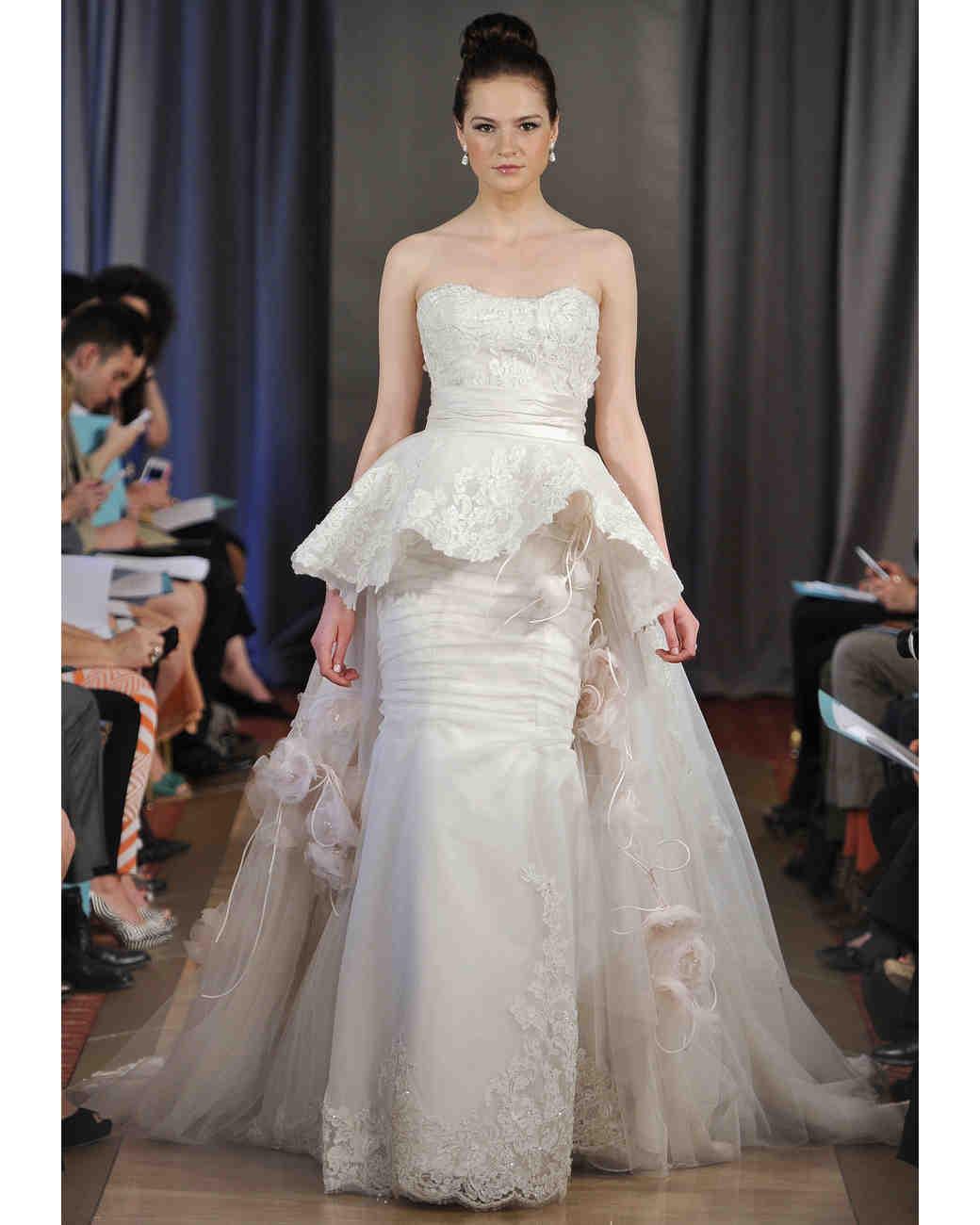 Long Peplum Bridesmaid Dress
