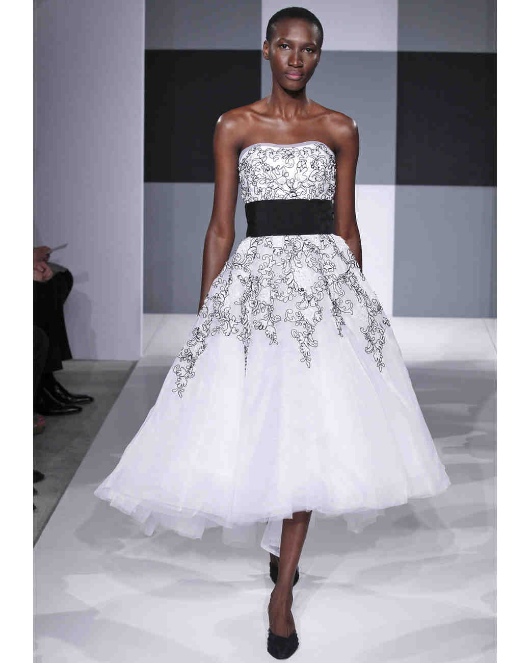 Black-and-White Wedding Dresses, Spring 2013 Bridal Fashion Week ...