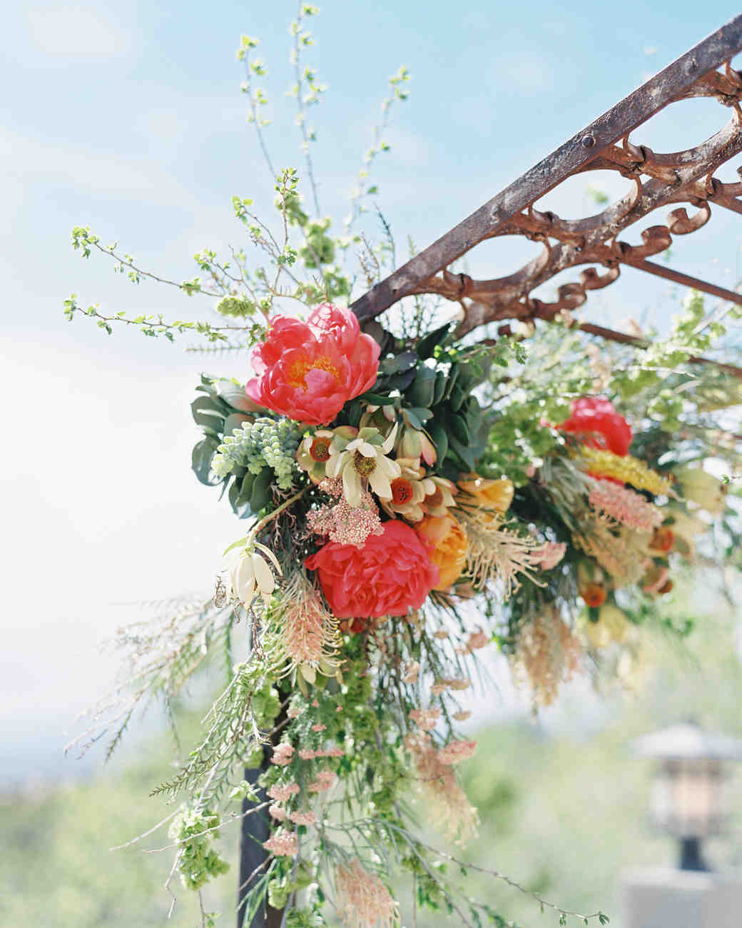 succulent ceremony arch