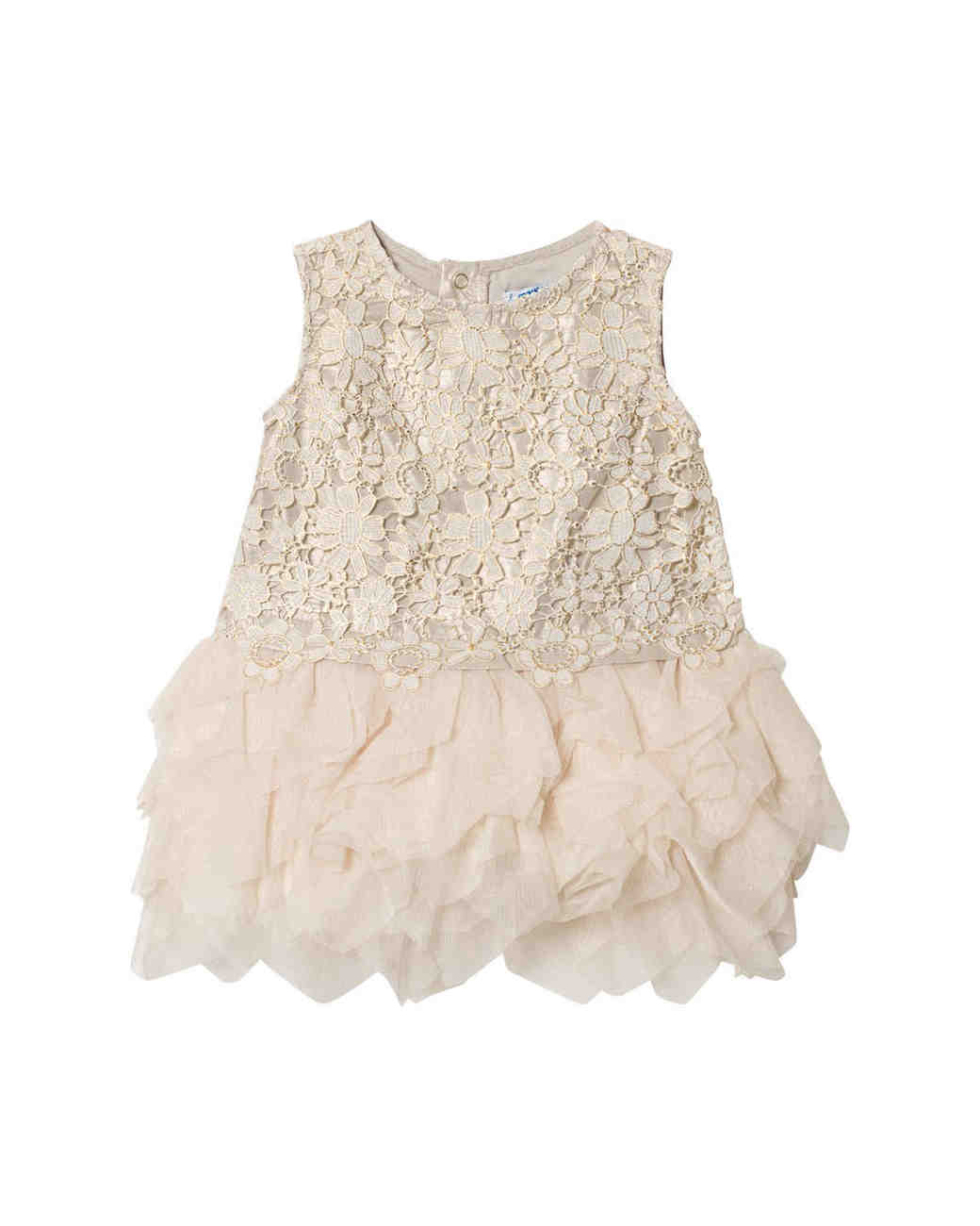 white lace flower girl dress Mayoral