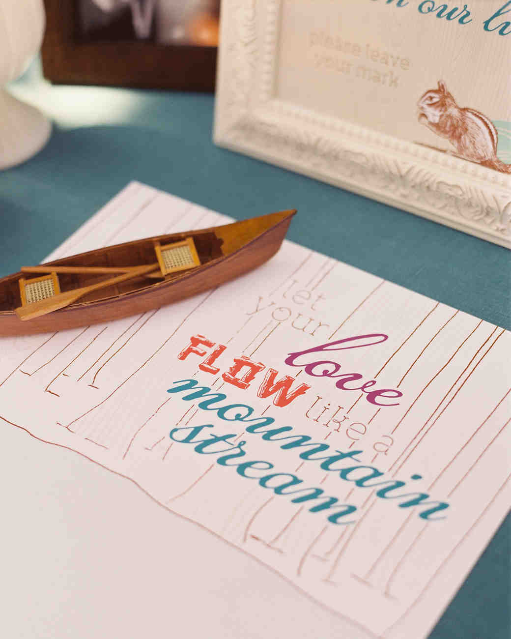 River-Themed Guest Book