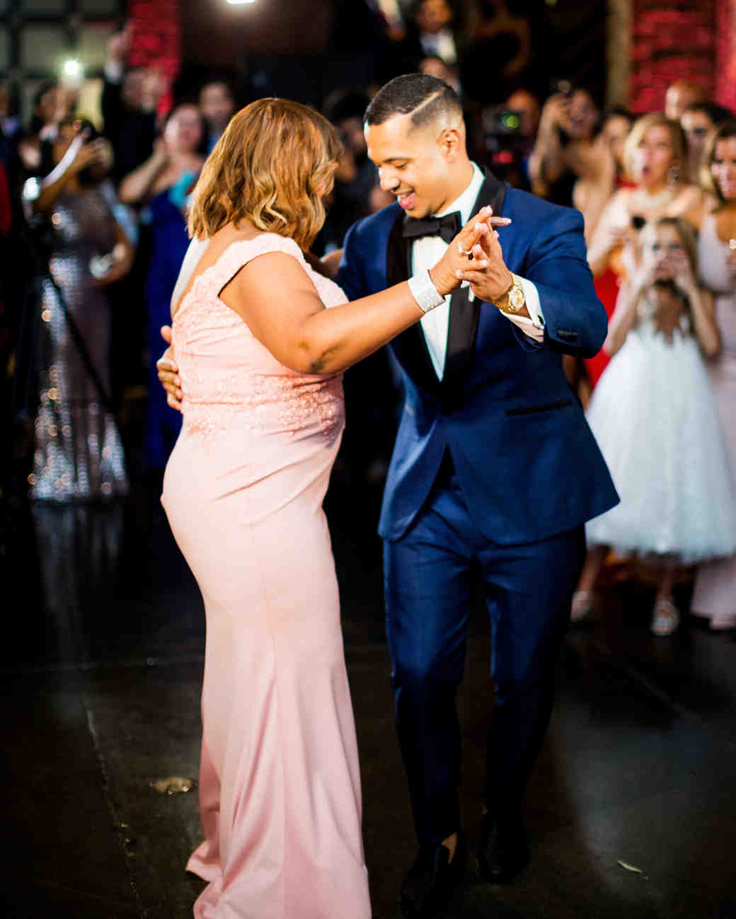 groom dancing with mother of the groom