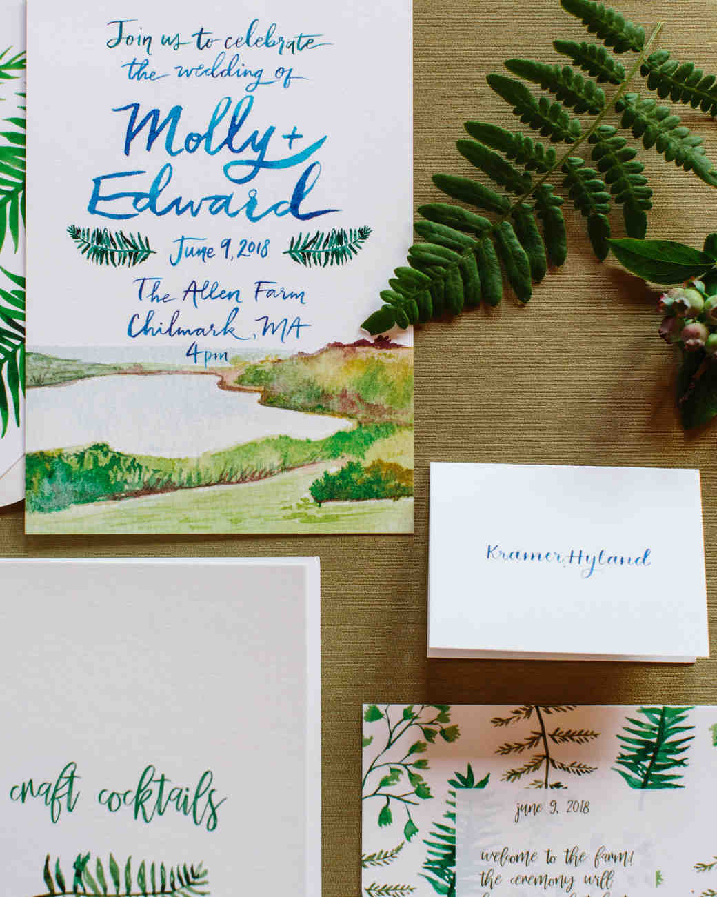 molly ed wedding stationery invitations
