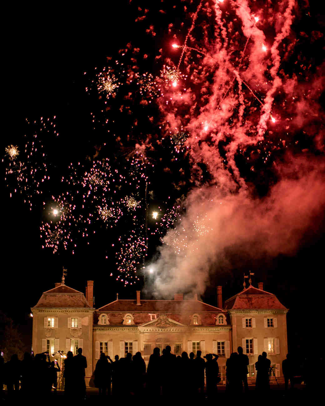 fireworks display after wedding day