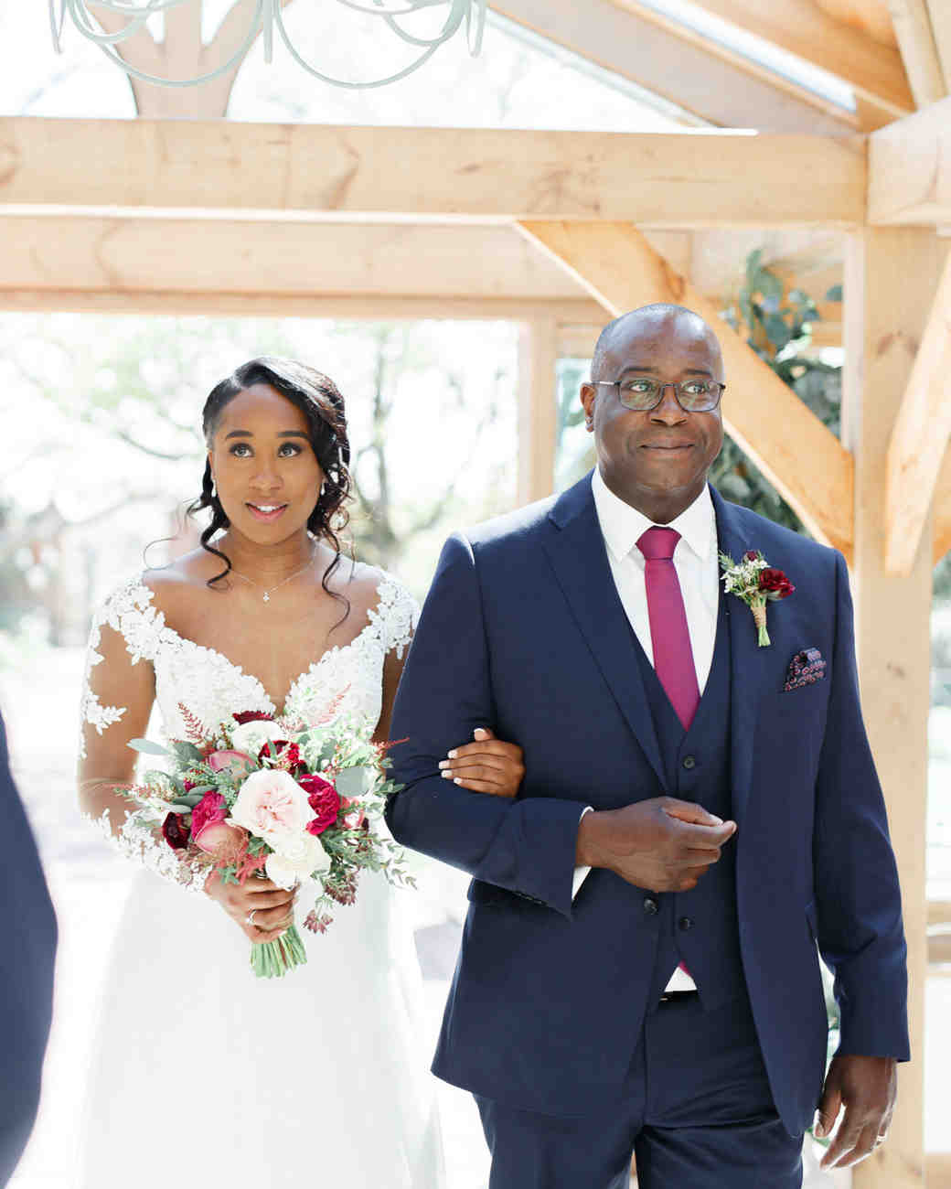 ryan thomas wedding processional bride and father