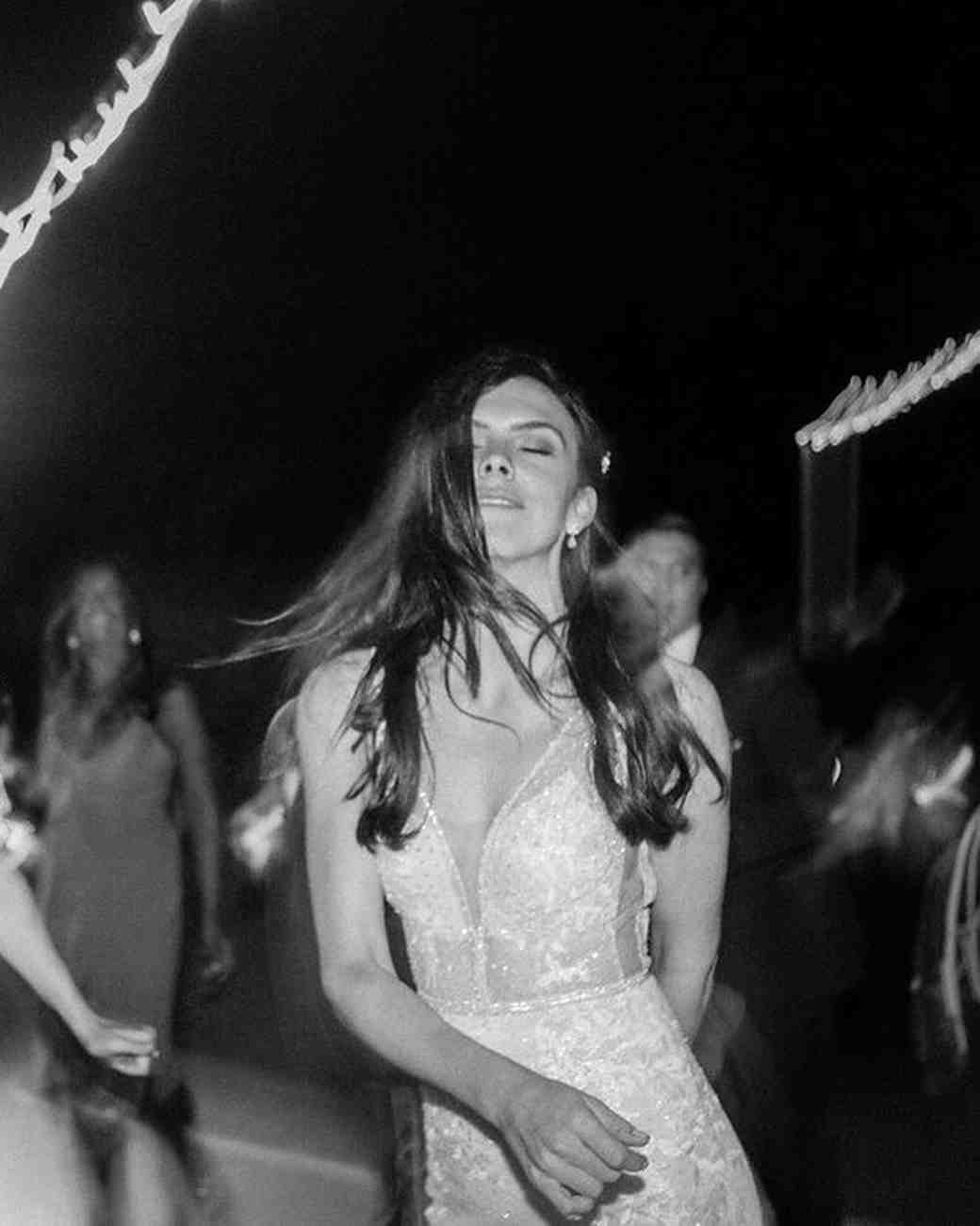 paige zack wedding bride dancing