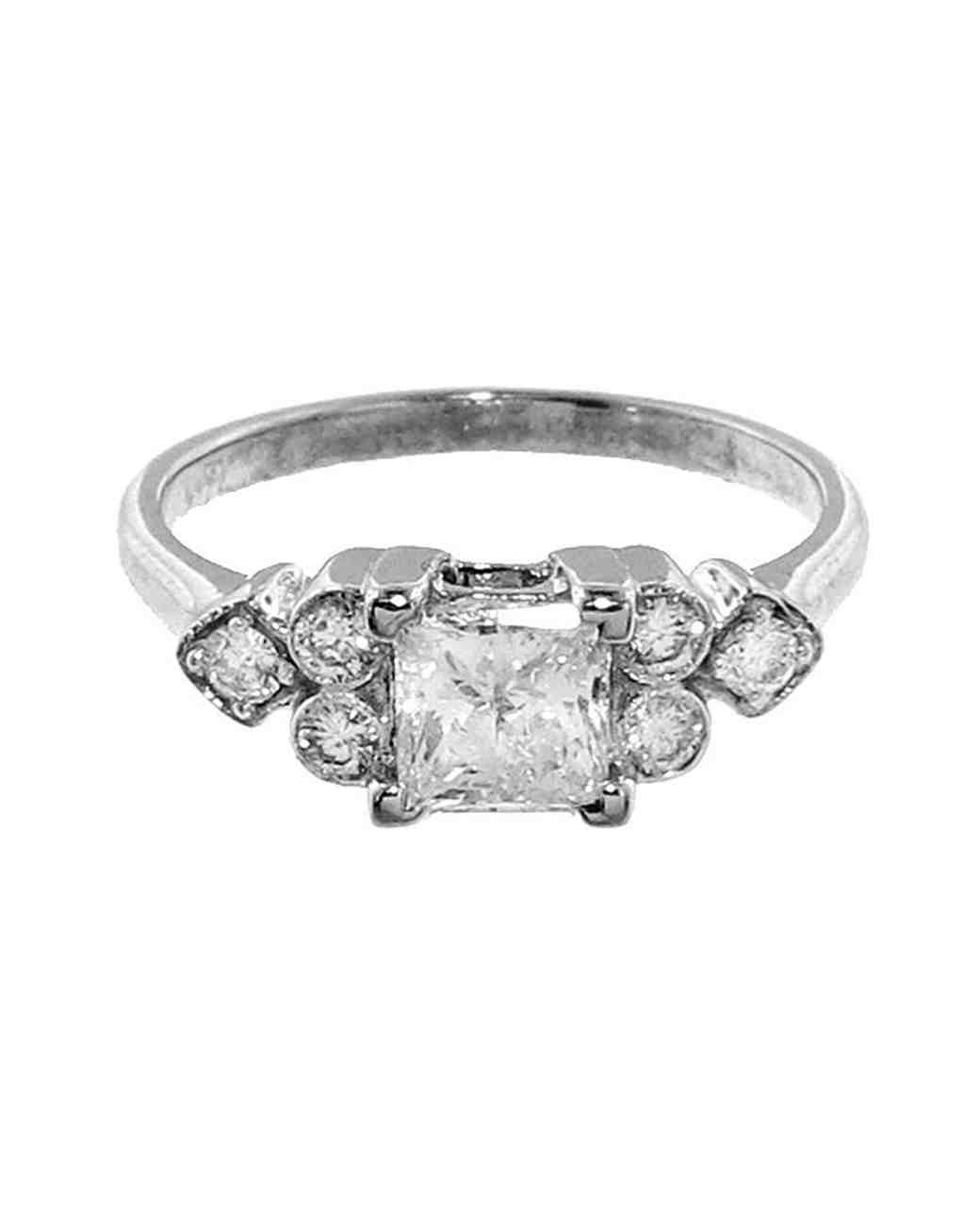 princess cut ring silver sethi couture