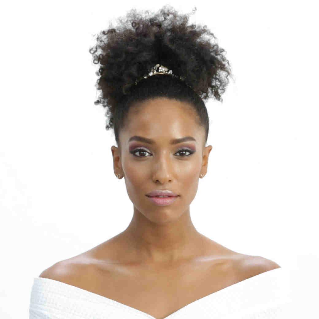 Rihanna Cool Bride Wedding Hair and Makeup Inspiration