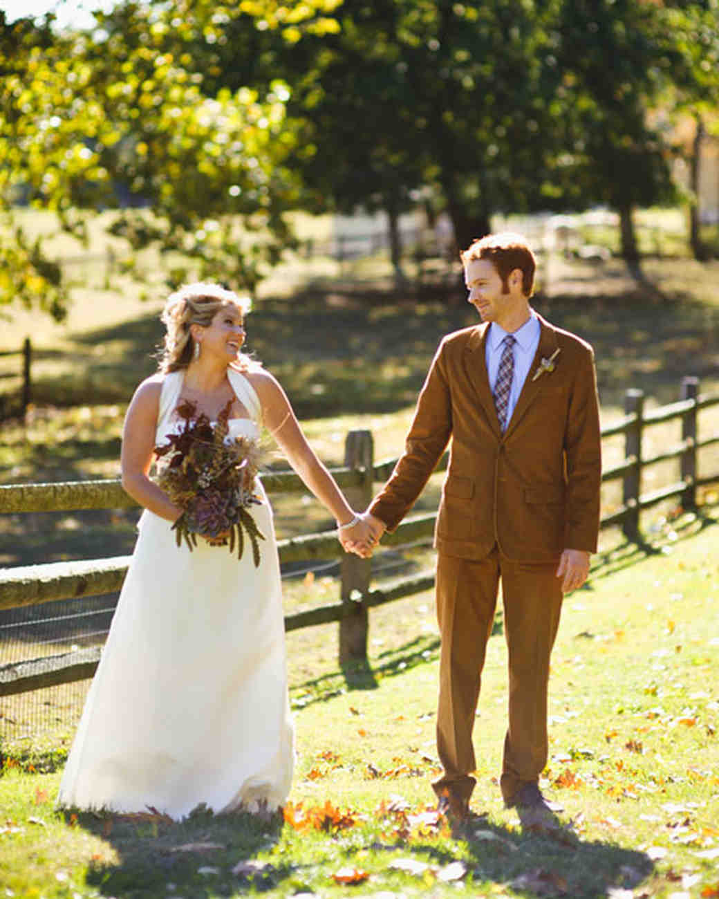 A Rustic Autumn Wedding in a Barn in Pennsylvania | Martha Stewart ...
