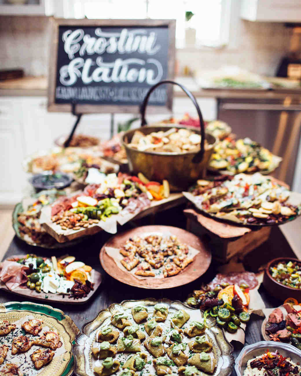 14 delicious food bars for your wedding martha stewart for Food bar menu
