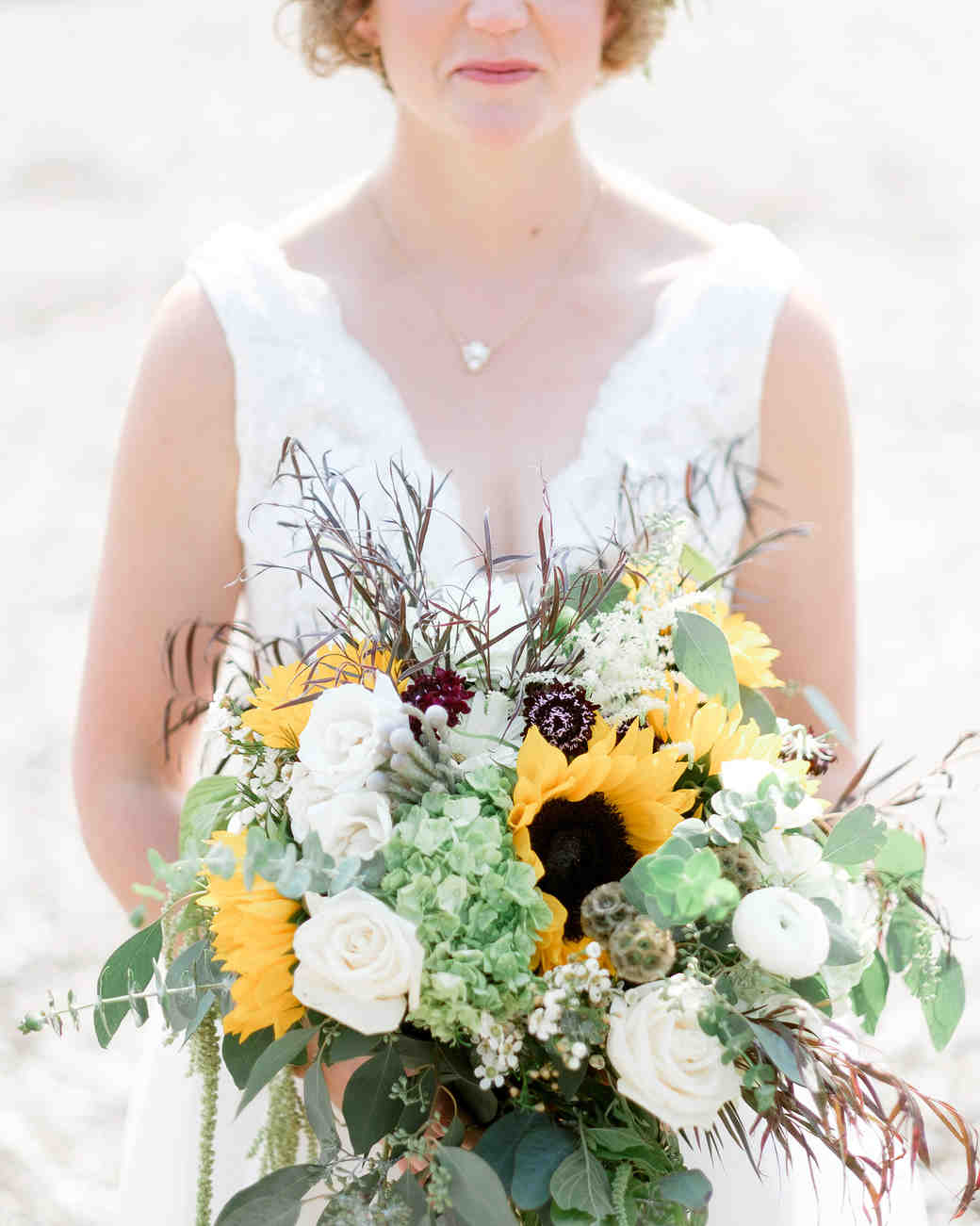 sunflower bouquet with greenery