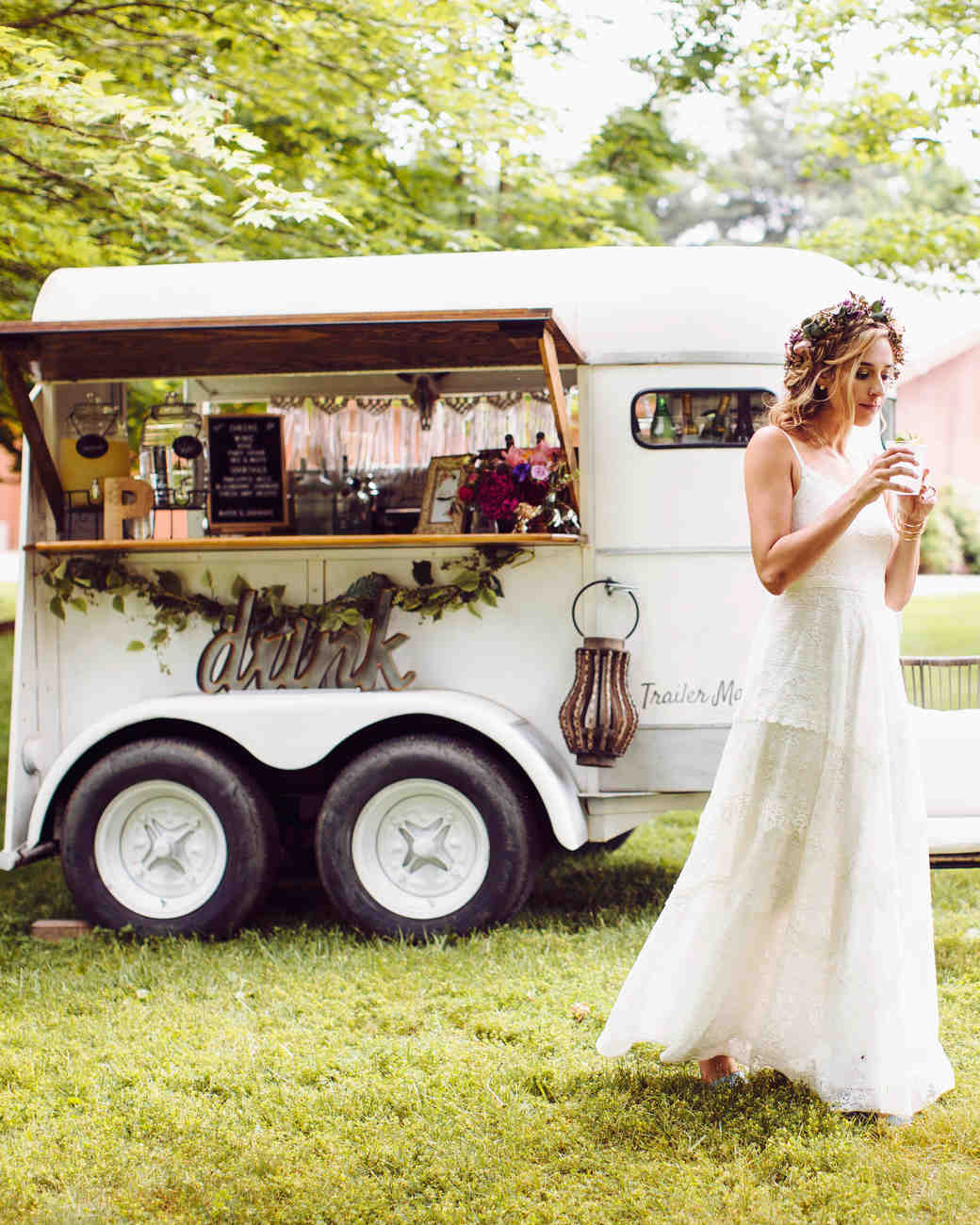 trailer made mobile food truck vintage bride
