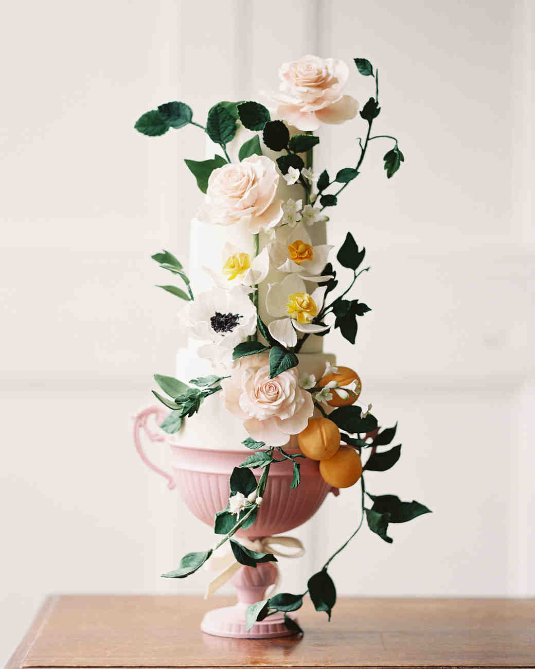 pink goblet cake stand