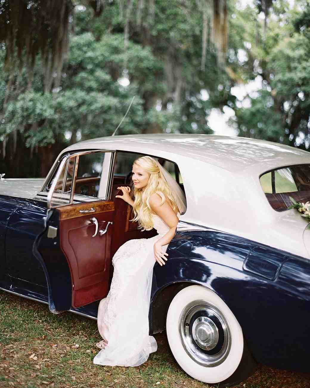 bride antique car