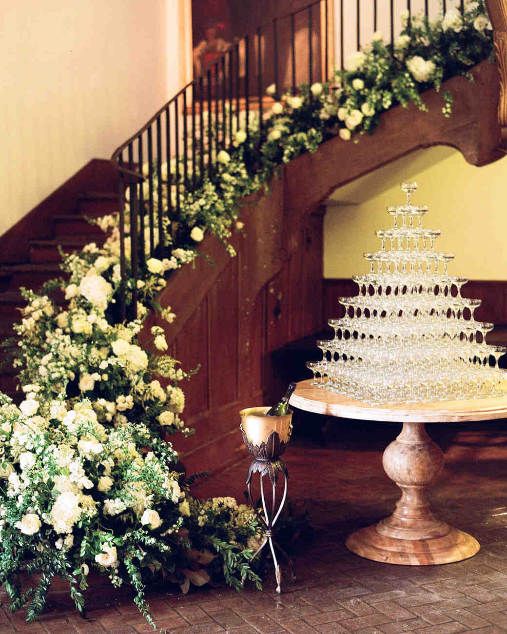 Black Tie Wedding Ideas: 21 Champagne Towers To Copy For Your Own Wedding Reception