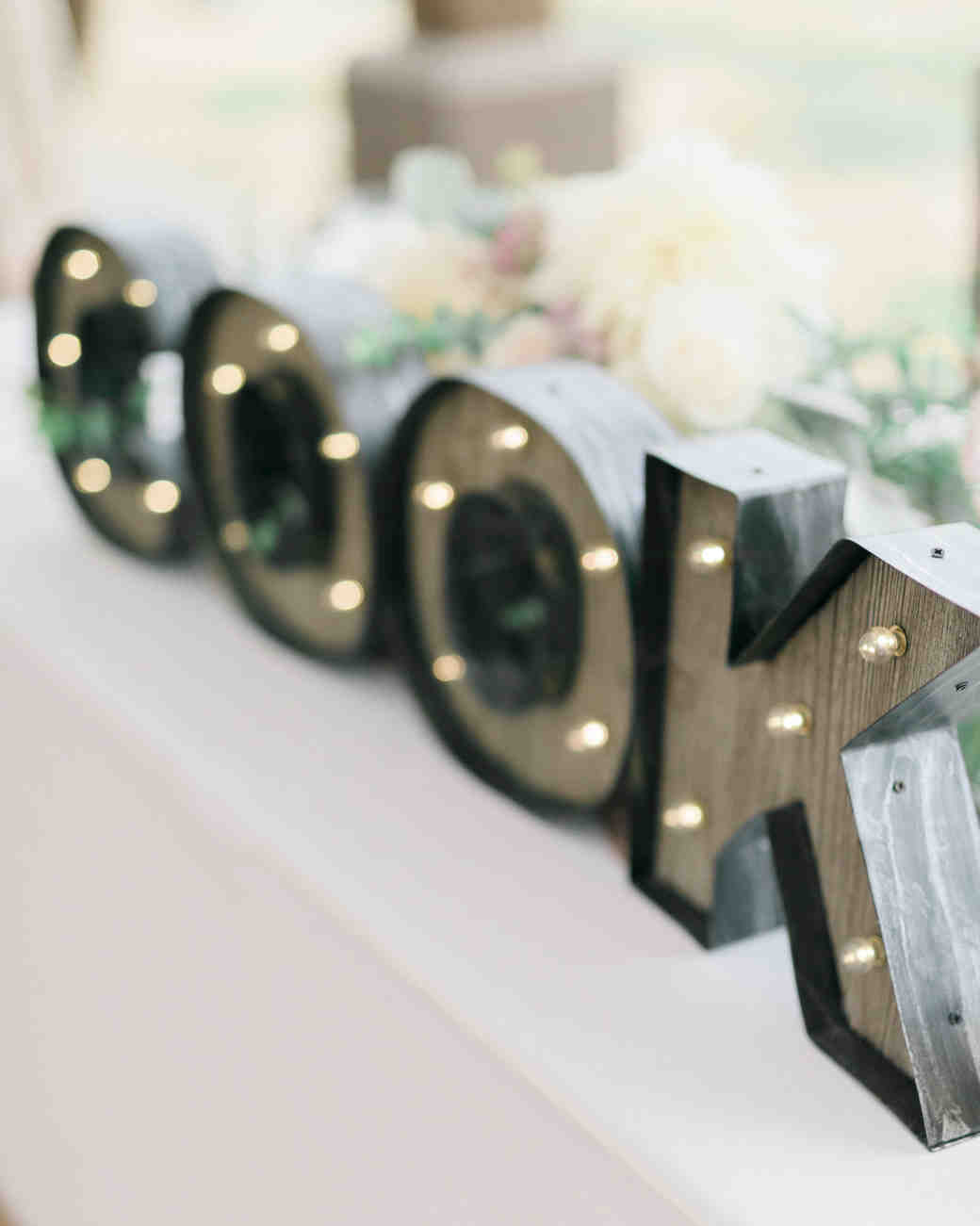 25 creative wedding rituals that symbolize unity martha stewart 11 cool ways to use marquee letters at your wedding buycottarizona Images