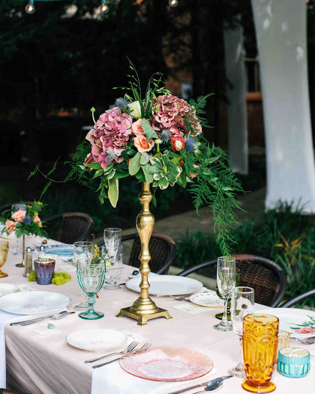 The Prettiest Place Settings from Real Celebrations | Martha Stewart Weddings : tableware for wedding - pezcame.com