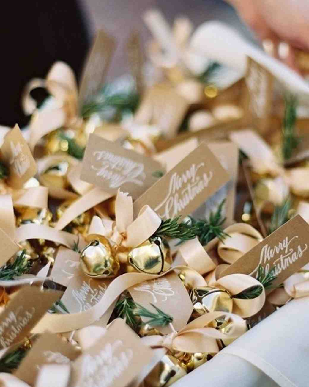 Choose a seasonal gift for guests to take home after a winter wedding with these favor ideas