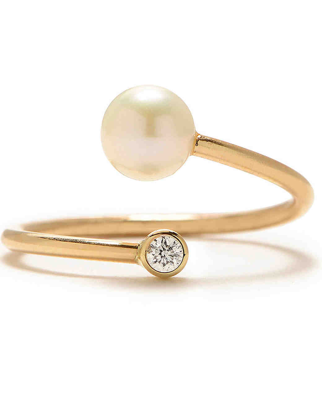 Zoe Chicco Pearl Engagement Ring