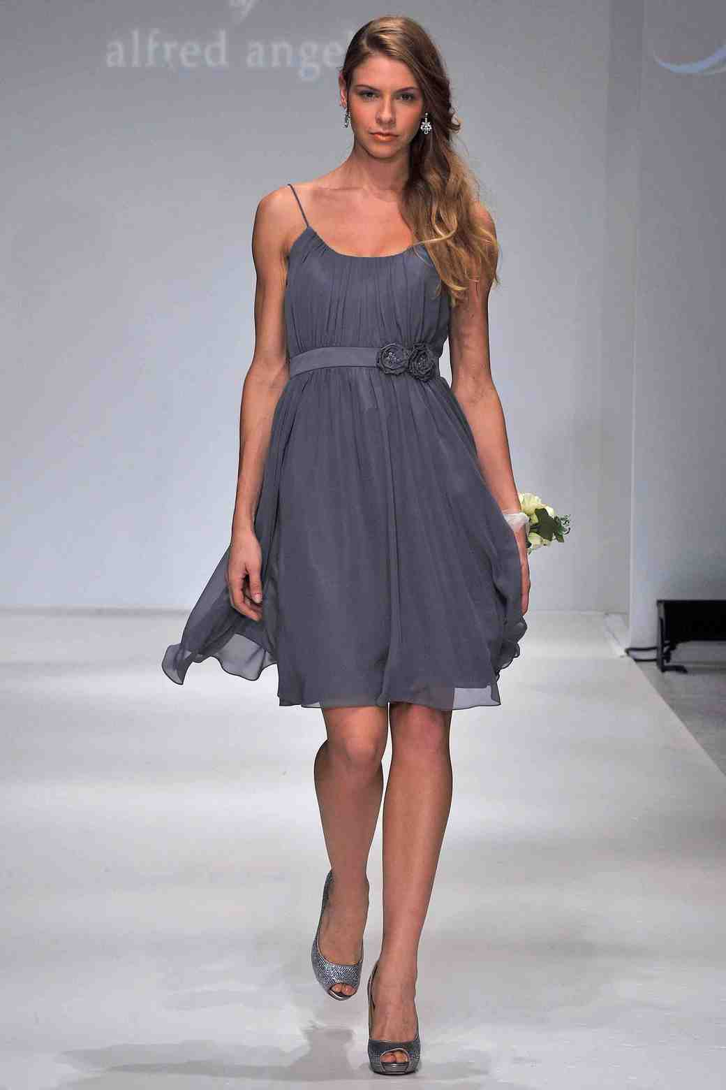 Silver gray bridesmaid dresses martha stewart weddings ombrellifo Images
