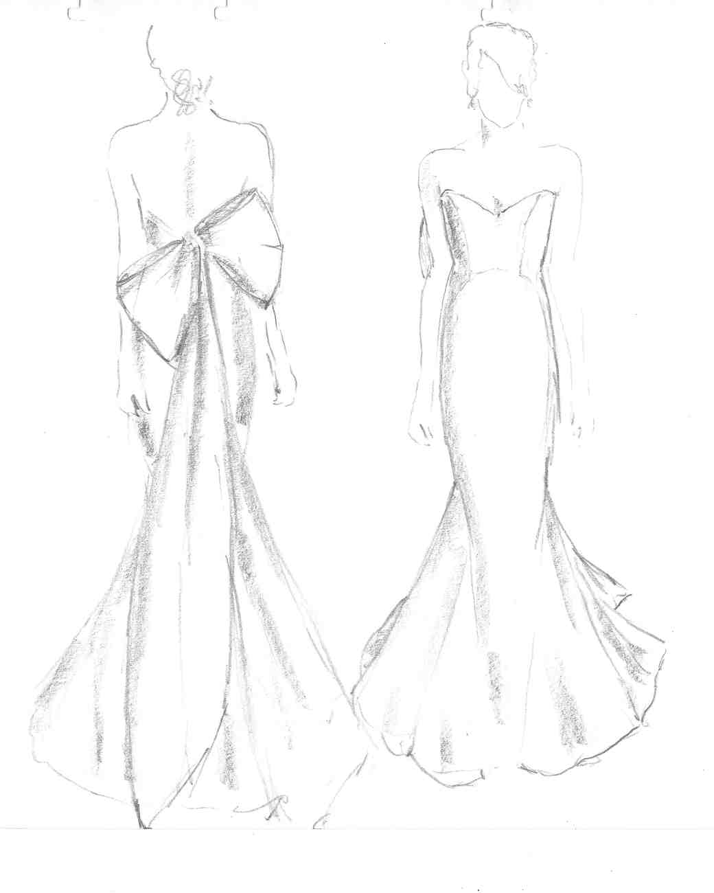 anna maier wedding dress sketch