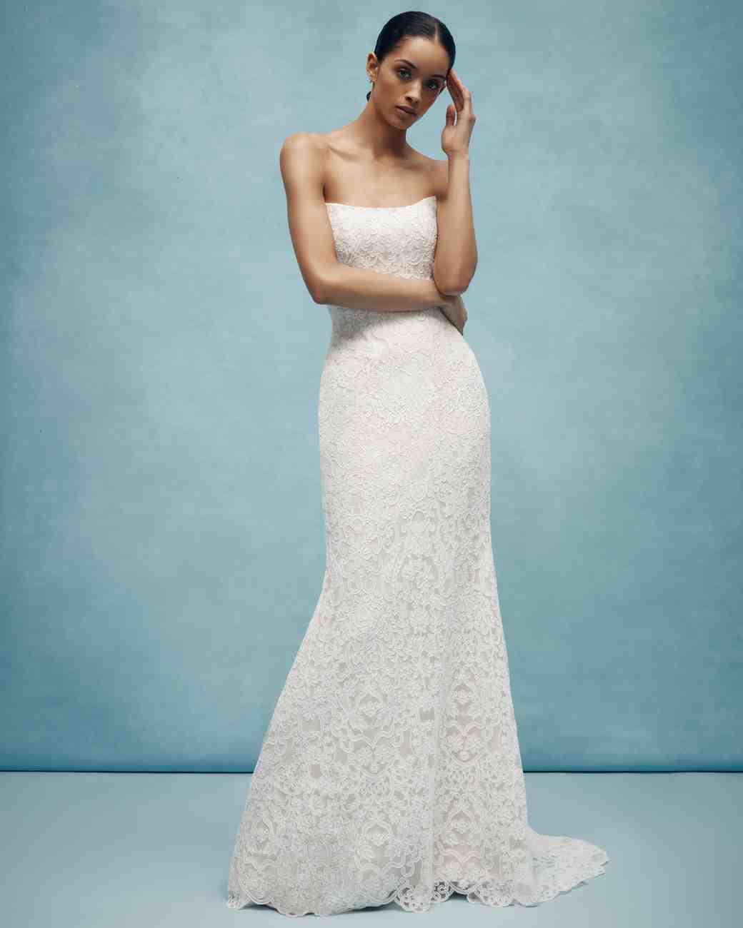 anne barge strapless floral applique wedding dress spring 2020