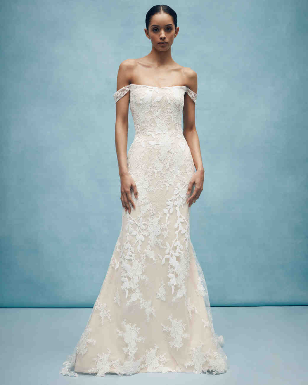 anne barge off the shoulder floral applique wedding dress spring 2020