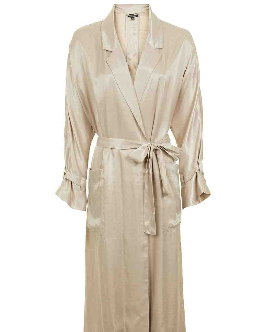 Topshop 80s Satin Duster Coat