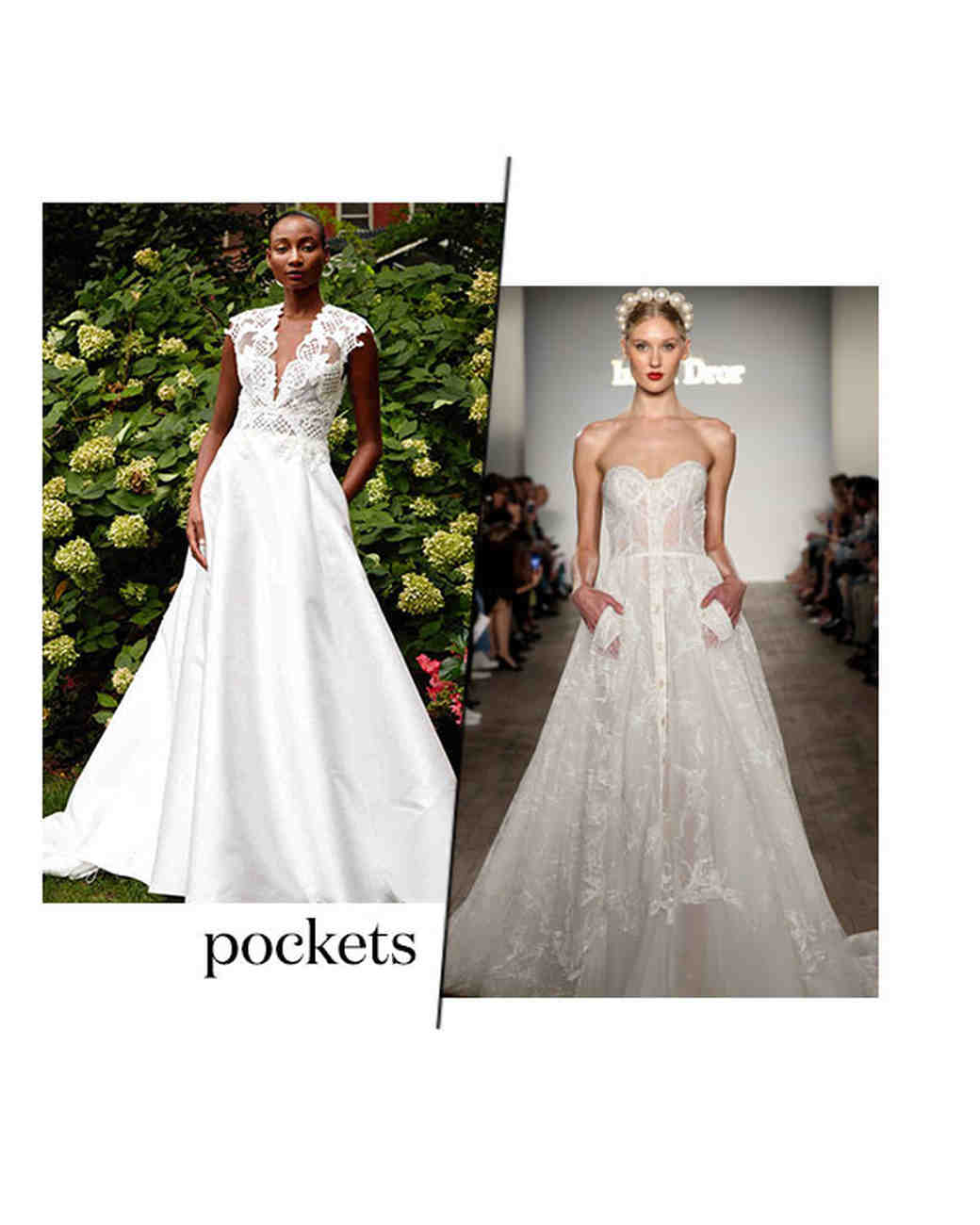 fall 2019 bridal fashion week trends pockets